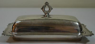 Silverplate Covered Butter Dish