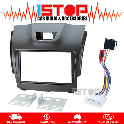 Holden Colorado Rg 2012-2014 Double-Din Facia Fascia Kit + Iso Wiring Harness