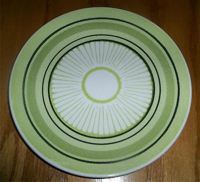 2 Taylor Smith Taylor Ironstone Green Span Flower Black Bands Dinner Plates