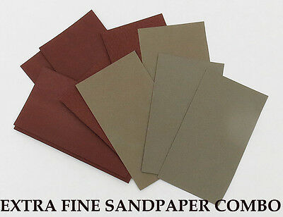 "10 sheets EXTRA FINE Sandpaper Wet or Dry  3""x 5 1/2"" COMBO 3000/5000 Grit"