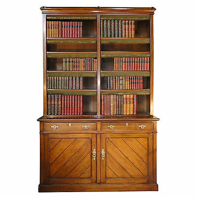 Victorian Arts & Crafts Gothic Oak Open Library Bookcase *UK Delivery £95