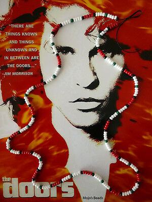 "Jim Morrison Red Bead Cobra / Young Lion Necklace From 1991 Movie ""The Doors"""