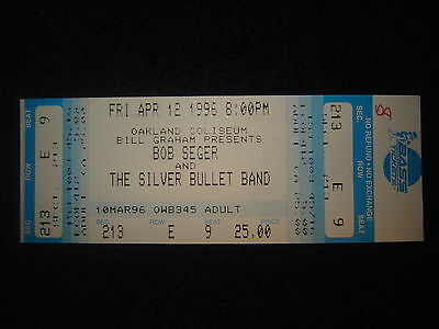 Concert Ticket Stub Bob Seger 4/12/96 Unused Ticket