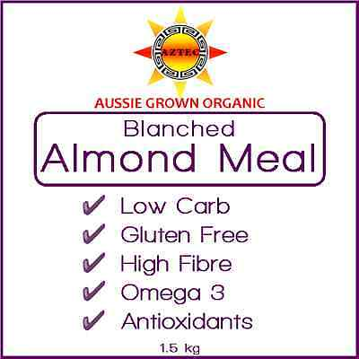 Almond Meal/Flour Blanched Organic Australian 1.5kg