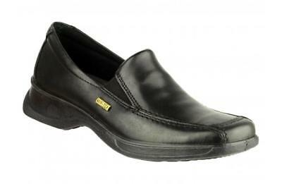 Cotswold HAZLETON Womens Ladies Leather Waterproof Padded Loafers Shoes Black
