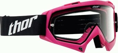 Thor Mx Enemy Solid Pink Womens Ladies Motocross Dirtbike  Goggles
