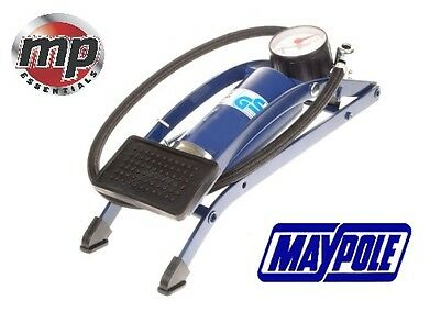 Maypole Single Barrel Cylinder Air Inflator Foot Pump Car Van Bicycle Tyre #783