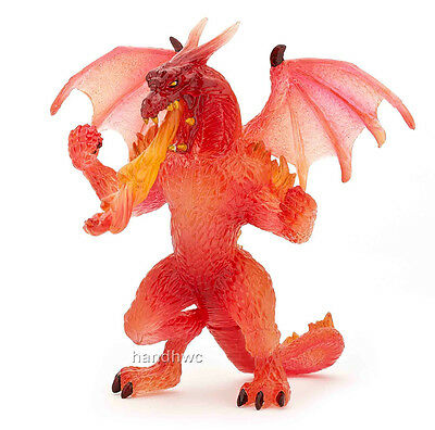 Papo 38981 Fire Dragon Model Gamer Role Play Figurine - NIP