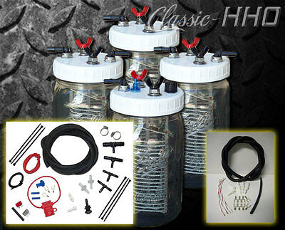 4 Cell Kit Gas or Diesel Hook-Up Classic-HHO Water4Gas Style Hydrogen Generator