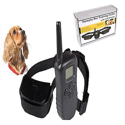 Dog Training Anti Bark Collar 100Level LCD Pet Electric Shock Rechargeable Remot