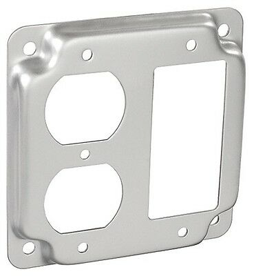 "4/"" Square Finished Industrial Cover Single Receptacle Electrical Box Outlet"