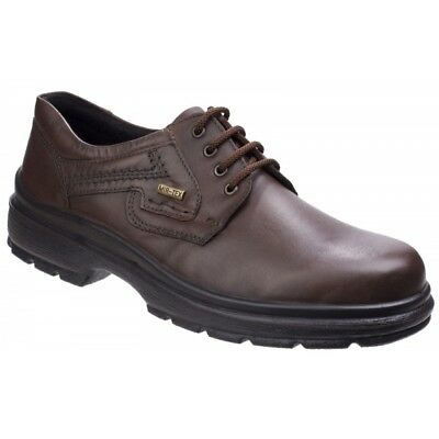 Cotswold SHIPSTON LACE SHOE Mens Leather Waterproof Casual Office Shoes Brown