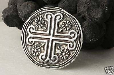 Sterling Silver Byzantine Cross , Brooch and Pendant