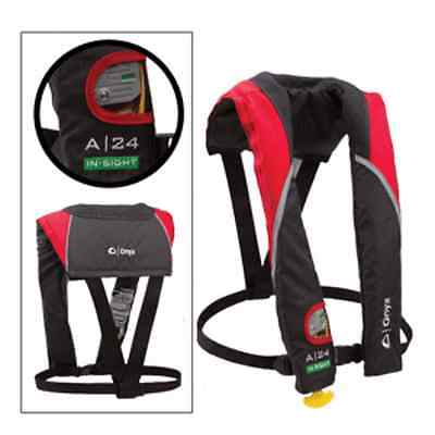 Onyx A-24 In-Sight Automatic Inflatable Life Jacket Red/Grey 3205RED00