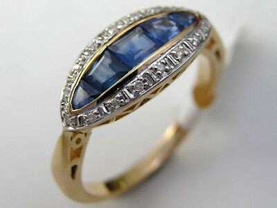 Genuine 9K 9ct Solid Gold Natural Diamond Anniversary Ring made in your size