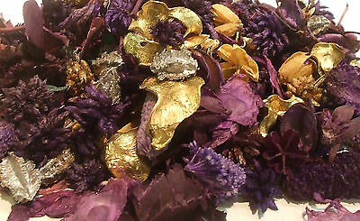 Top Quality Uk Made Pot Pourri Jingle Bells  +10 M Of Golden Ribbon  Free Post