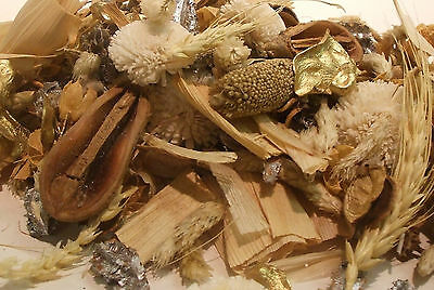Top Quality U.k Made Pot Pourri White Christmas +10 M Of Golden Ribbon Free Post