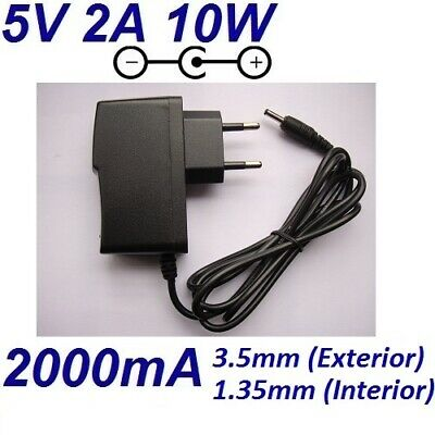 Cargador Corriente 5V 2A Tablet PC Tableta AC DC 220V Clavija 3.5mm Alimentador