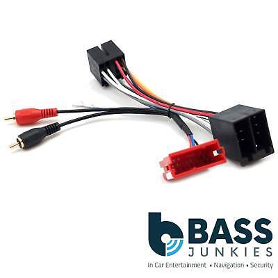 audi a4 1999-2000 car stereo rca speaker amplified bypass wiring harness  cable