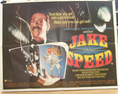 Wayne Crawford JAKE SPEED(1986) Original movie poster