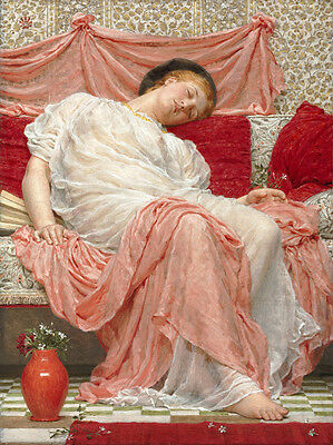 Wonderful Oil painting Beautiful young girl beauty sleeping with Jasmine flowers