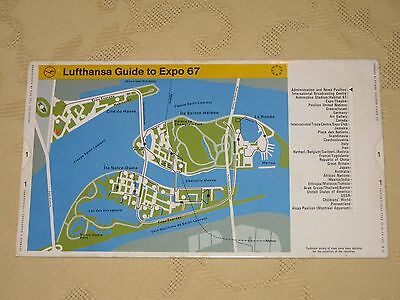 Vintage Lufthansa Guide To Expo 67 Montreal Quebec Canada 'Slide Locates Sites'