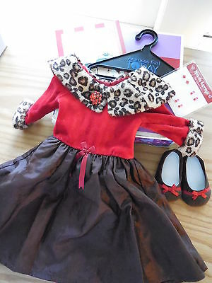 American Girl Chocolate Cherry Dress Outfit RETIRED New in Box NIB Cute & RARE!!