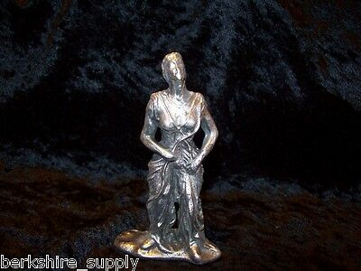 Large Pewter  Wiccan Woman  Mage   Figurine