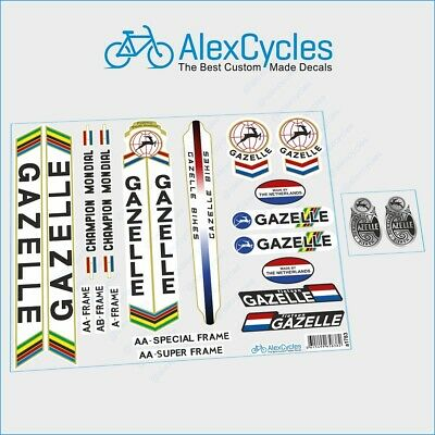 FREE Gift Stickers GAZELLE Bicycle Red Frame Restoration High Quality Decals