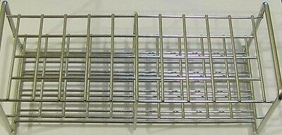 Stainless steel wireframe test tube rack 40 tubes 15 mm autoclavable lab stand