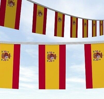 33FT SPAIN SPANISH Bandera de España FLAGS BUNTING