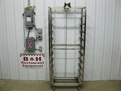 "Baxter Stainless Steel 10 Slide Bakery Rack Oven Cart 18"" x 26"" Full Sheet Pans"