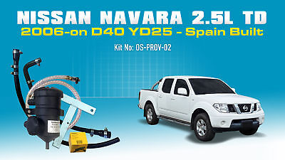 Mann ProVent Catch Can Kit for Nissan Navara 2006-on D40 2.5L TD YD25 Spain