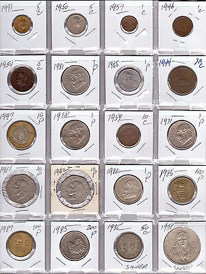 MEXICO Lot of 20 Different Coins - 2 Silver Coins