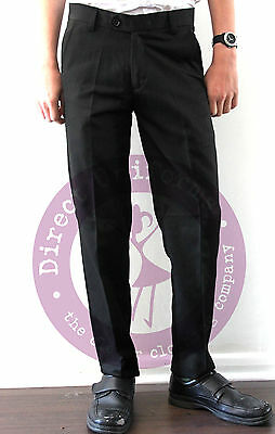 Boys School/Formal SLIM FIT/SLIM LEG Trousers-QUALITY PALVINI TROUSER-Black