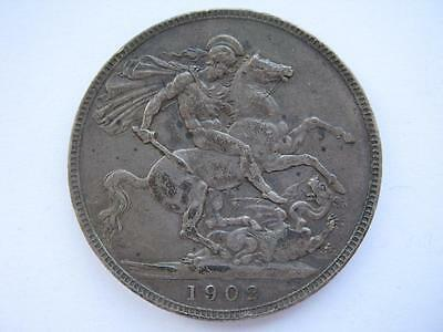 1902 silver Crown, VF.