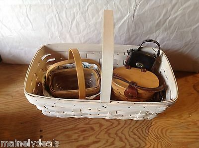 Lot of 5 Longaberger Baskets Good Condition