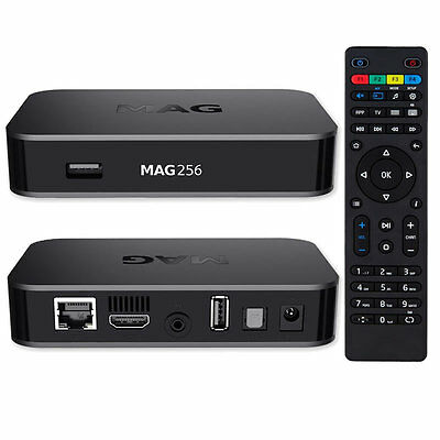 MAG 256 w1 Original Infomir IPTV Set Top Box 150 Mbps Wi-Fi Built in