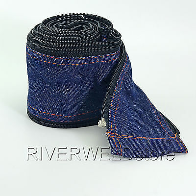 TIG Welding Torch Cable Cover Cowboy Zipper Jacket 3.6 Meter 11-13/4 Feet Length
