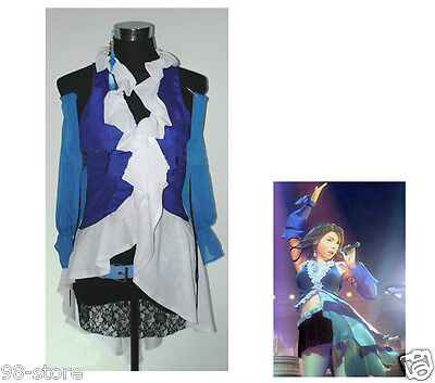 2PCS Final Fantasy X-2 Yuna and Lenne Songstress Cosplay Costume Size XL