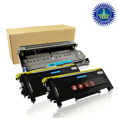 2 TN350 Toner + 1 DR350 Drum For Brother HL-2040 2070N MFC-7420 7220 7820N 2820