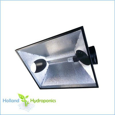 "HOODXL 8"" (200mm) ducting Large Air Cool reflector Hydroponic Grow Light shade"