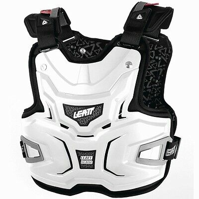 Leatt Mx Adventure Lite White Motocross Body Armour Chest Armor Protector