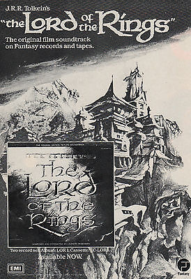 Original magazine advert(1978) Ralph Bakshis LORD OF THE RINGS