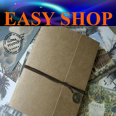 40 Pages DIY Photo Album Craft Kraft Scrapbooking Paper Vintage Gift Wedding