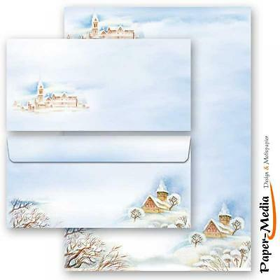 20-tlg. Motiv-Briefpapier-Set WINTERLANDSCHAFT