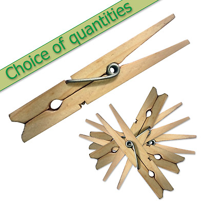 Wooden Clothes Pegs Pins Clips Washing Line Airer Dryer Line Wood Discounts