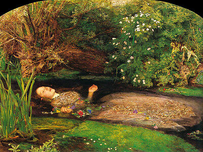 Oil painting John Everett Millais - The death of Ophelia in the river canvas