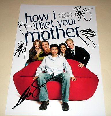 "How I Met Your Mother Cast X Pp Signed 12""x8"" Poster"