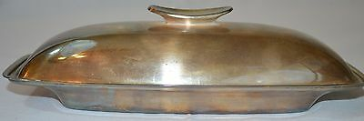 Gorham Silverplate Covered Butter Dish Glass insert